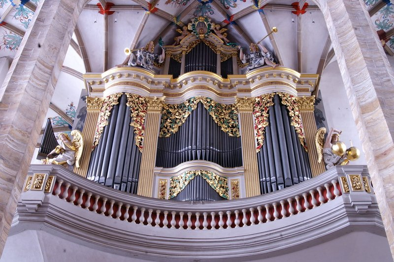 The Great Organ At Freiberg Cathedral